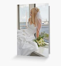 Bride on the window Greeting Card