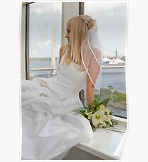Bride on the window Poster