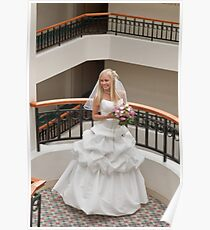 Bride in gallery Poster