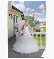 Bride On The Balcony Poster
