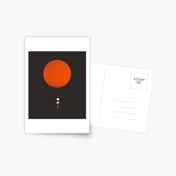 Minimal Solar System Postcard