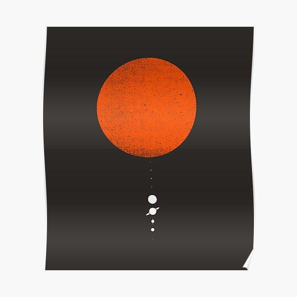 Minimal Solar System Poster