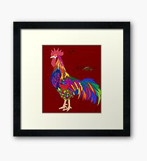 Colorful Rooster  Framed Print