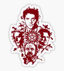 Supernatural Portraits in blood Sticker