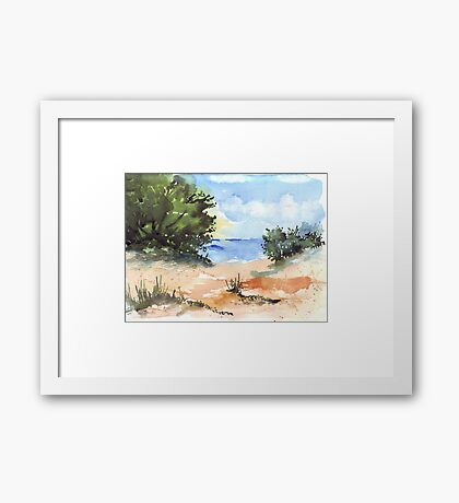 Beach at Mvoti Framed Print