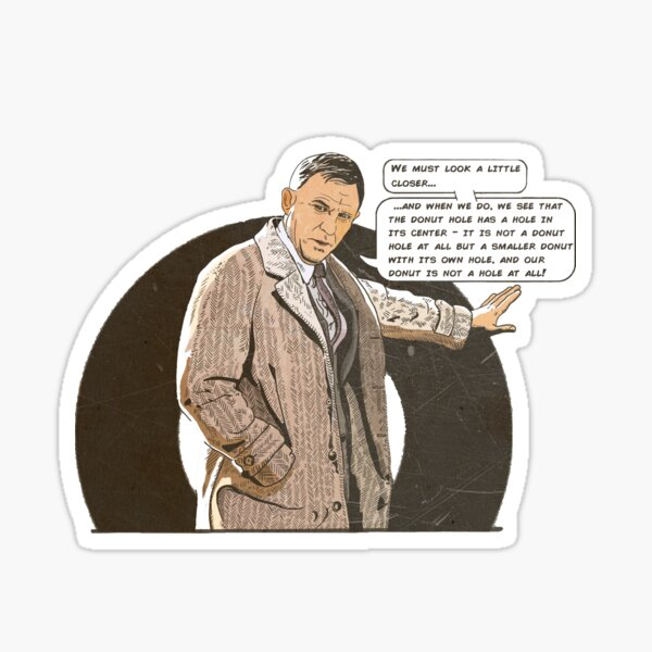 Knives Out - Donut/Doughnut Quote Sticker