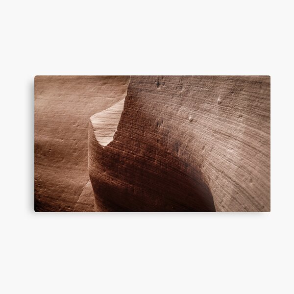 Red Sandstone Rock Curve in Antelope Canyon Metal Print
