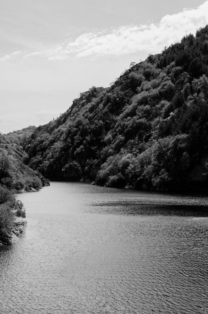 Italian landscapes - Lake San Domenico  by Andrea Mazzocchetti