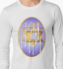 Nine White Candles and Star Oval T-Shirt