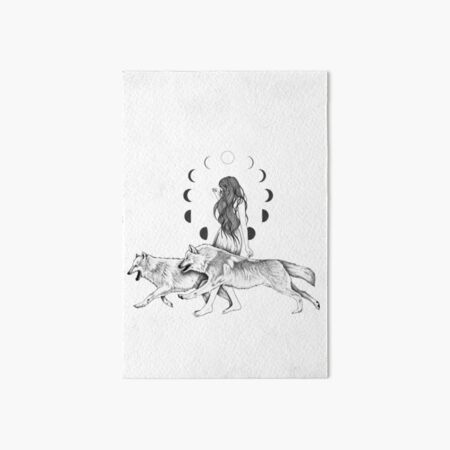 Run With The Wolves Art Board Print
