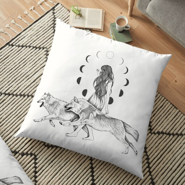 Run With The Wolves Floor Pillow