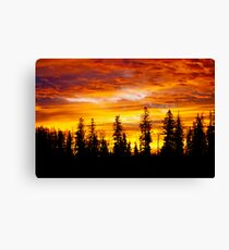 Sunrise - Alberta, Canada Canvas Print