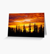 Sunrise - Alberta, Canada Greeting Card