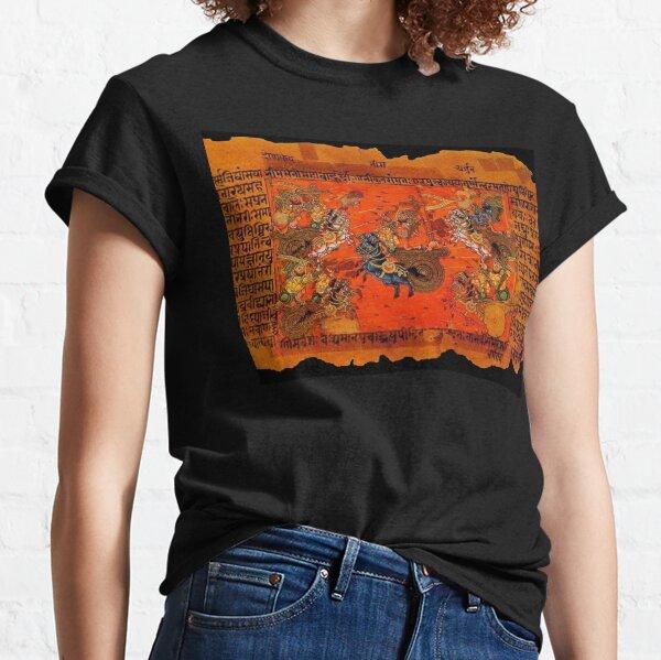 Mahabharata. Depicting the war at Kurukshetra. Classic T-Shirt