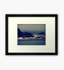 Let the rhythm of the sea heal you Framed Print