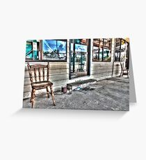 Two chairs. Greeting Card