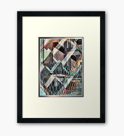 Concrete or Abstract Framed Print