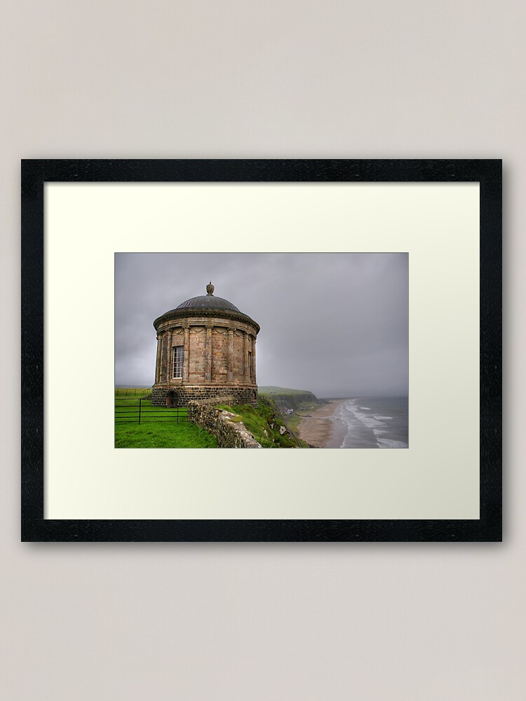 Alternate view of Mussenden Temple, Northern Ireland Framed Art Print