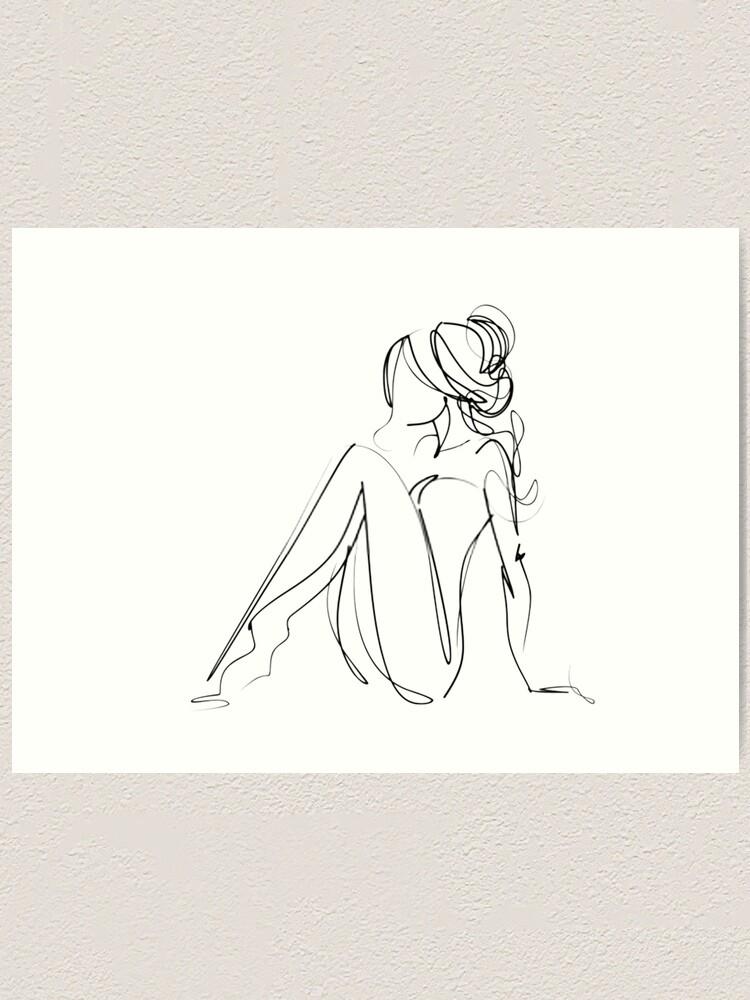 One Line Women Body Art Art Print By Gabriellechanel Redbubble