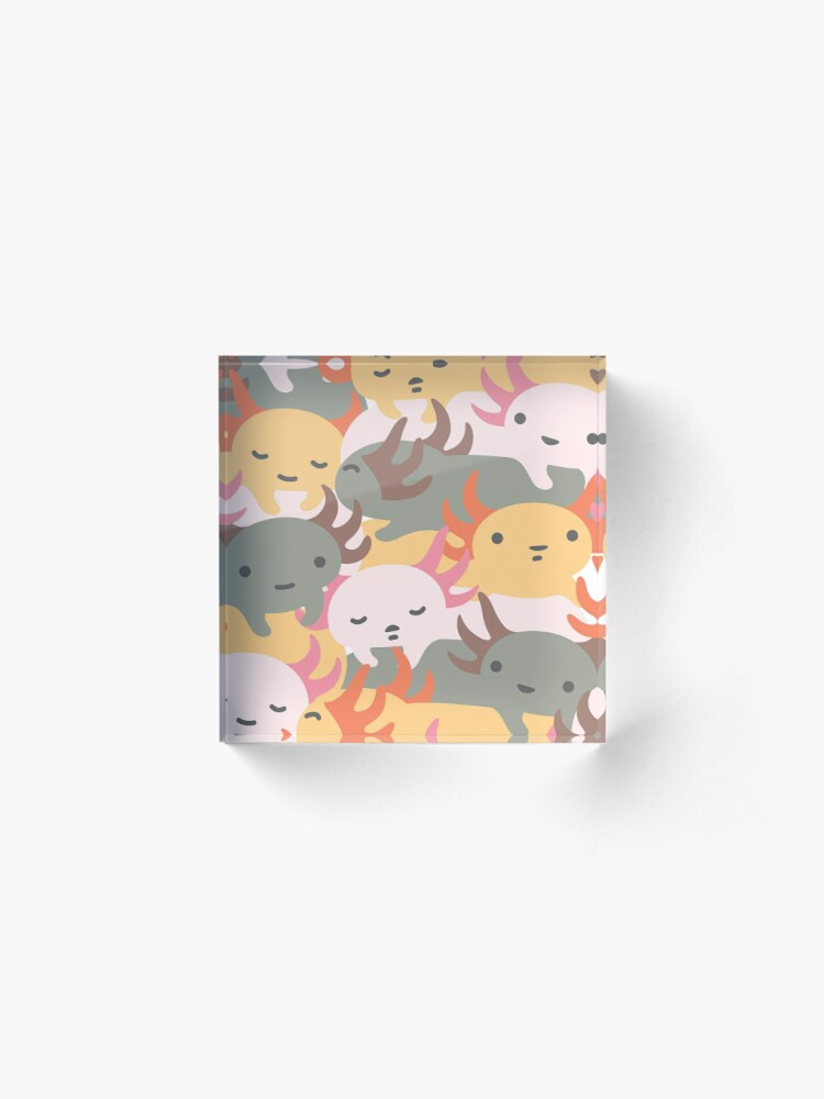 Alternate view of AXOLOTL WAVE - We are the CUTEST CREATURE in the Water World Acrylic Block
