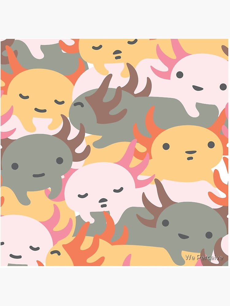AXOLOTL WAVE - We are the CUTEST CREATURE in the Water World by CitizenWong
