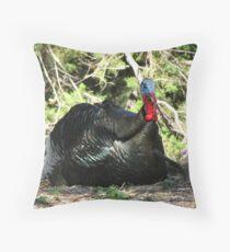 Gould's Wild Turkey ~ Male Throw Pillow