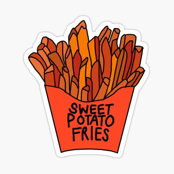 sweet potato fries  French fries food sticker, seasoned potatoes  Sticker