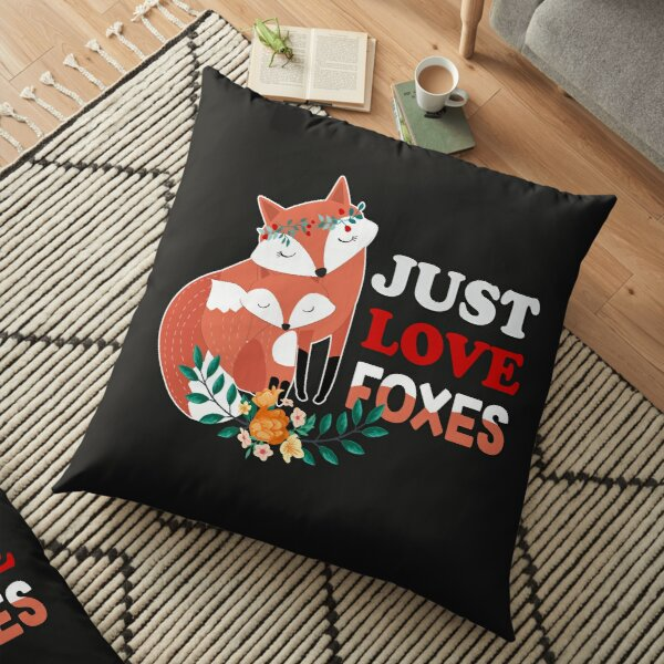 Just Love Foxes Floor Pillow