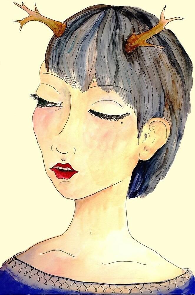antler chick by mungeeman
