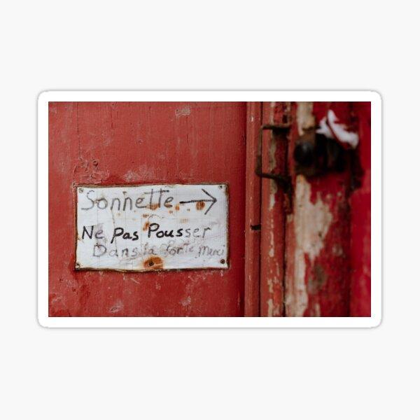 Sonnette Sticker
