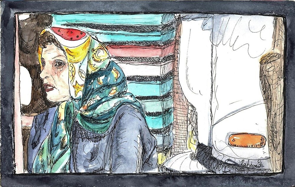 Arab Lady at the market by mungeeman