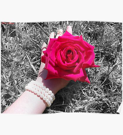 Rose Pearls Poster