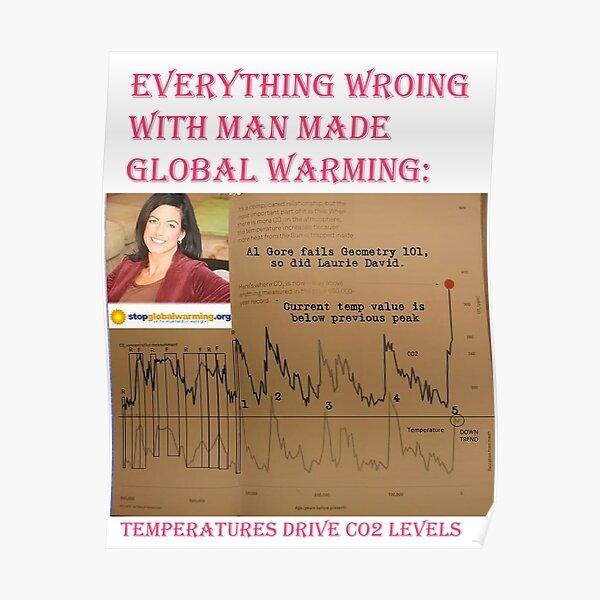 Temperatur-CO2-Diagramm beweist genau das Gegenteil Poster