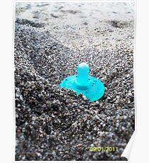 Beached Binky Poster