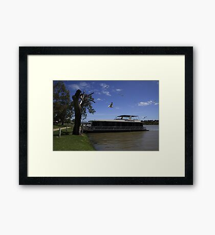 Luxury Houseboat On The Murray River Framed Print