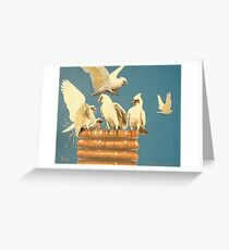 """The Drinks Are On The Donkey 2"" Greeting Card"