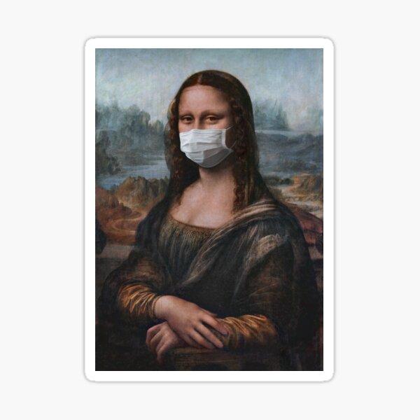 Coronavirus Mona Lisa Sticker