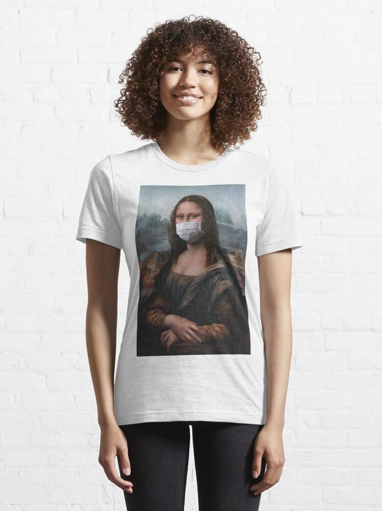 Alternate view of Coronavirus Mona Lisa Essential T-Shirt