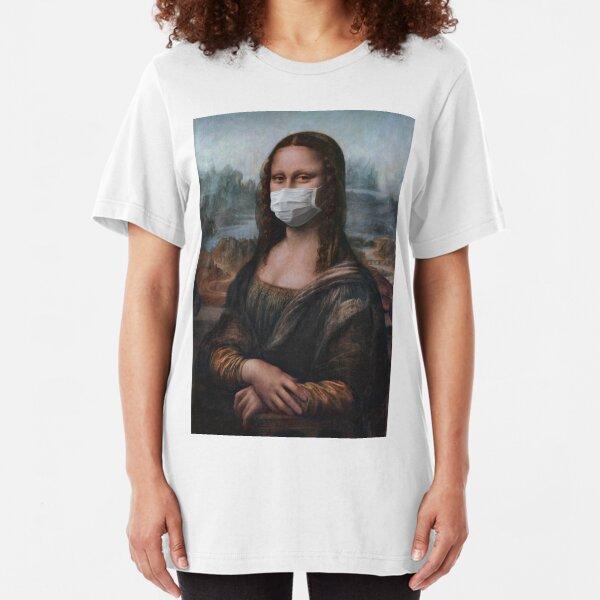 Coronavirus Mona Lisa Slim Fit T-Shirt