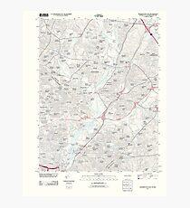 USGS Topo Map District of Columbia DC Washington East 20110627 TM Photographic Print