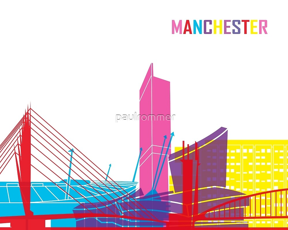 Manchester skyline pop by paulrommer