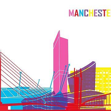 Manchester Skyline Pop von paulrommer