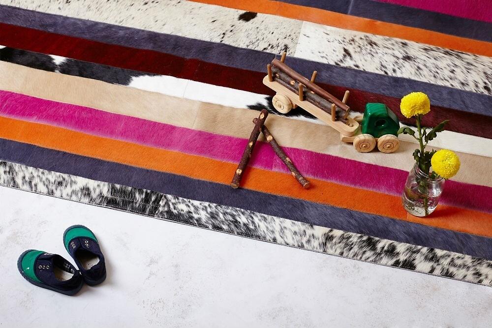 Cowhide rugs online by arthideco