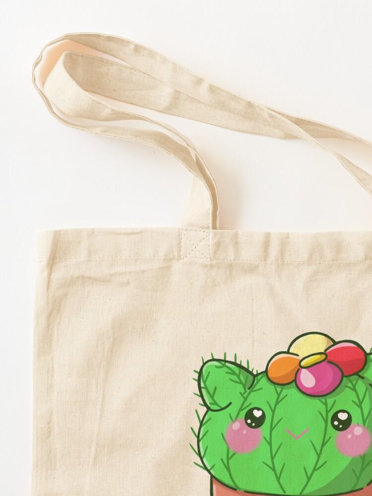 Alternate view of You Prickle My Fancy Cactus Cutie  Tote Bag