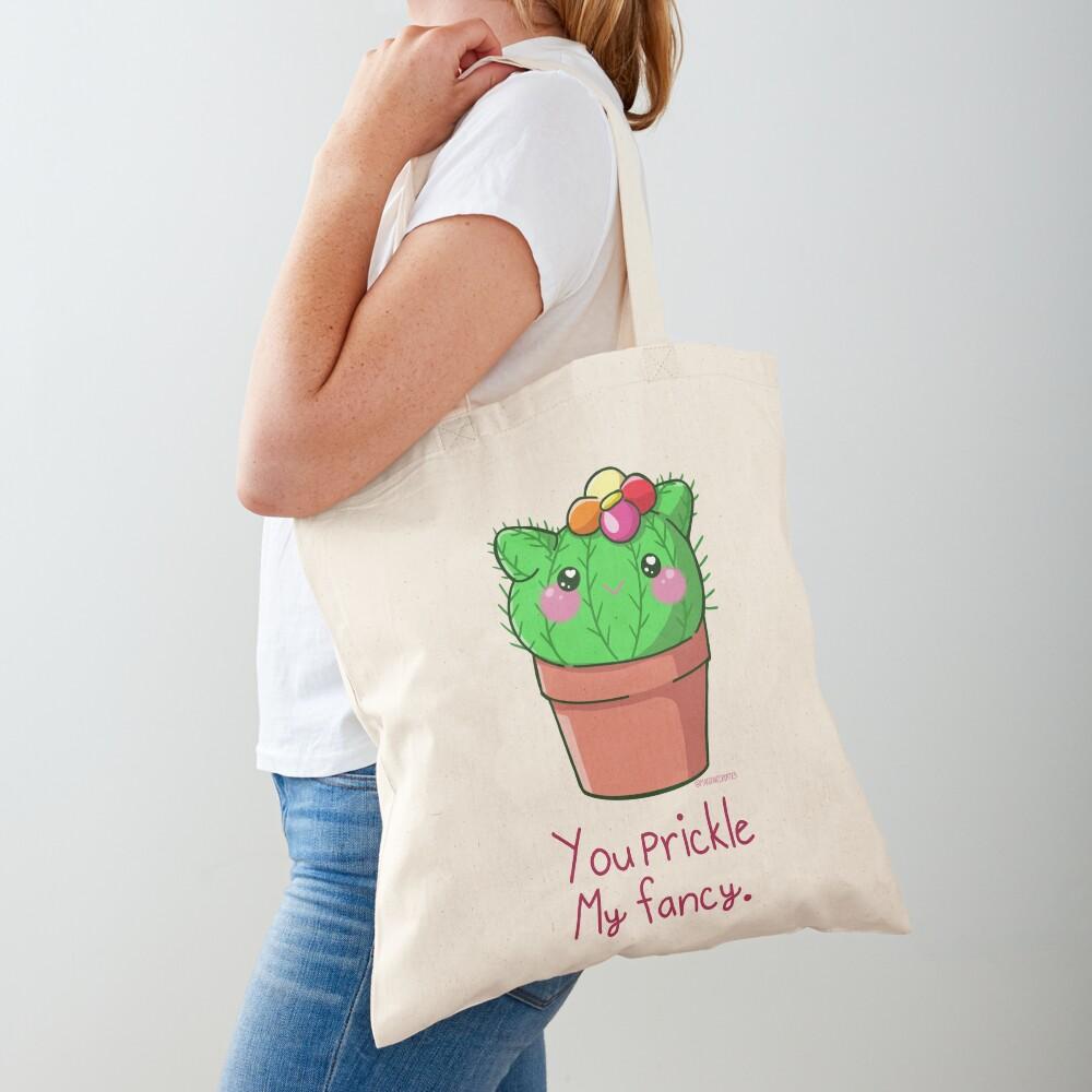 You Prickle My Fancy Cactus Cutie  Tote Bag