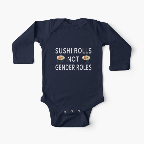Rollos de sushi no roles de género Body de manga larga para bebé