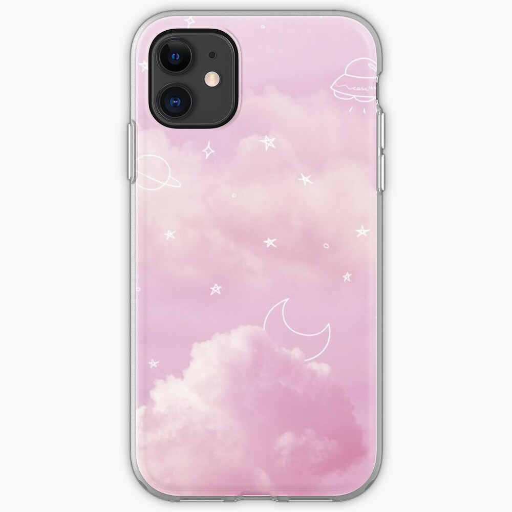 Pink Sky And Stars Watercolor Wallpapers Iphone Case Cover By Shop4fun Redbubble