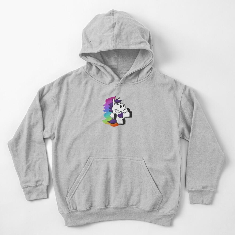 Rainbow Slasher the Unicorn Kids Pullover Hoodie