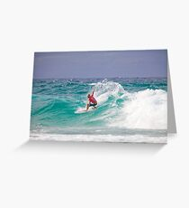 Quiksilver Pro 2011 Kelly Slater Greeting Card