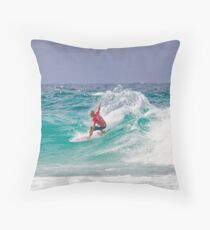 Quiksilver Pro 2011 Kelly Slater Throw Pillow